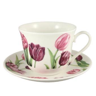 Jumbotasse & Untertasse Tulip Garden - 0,4l
