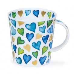 Becher Lovehearts blue - 0,48l