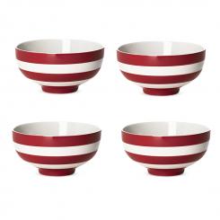 Suppenschüssel 4er Set Cornish Red - 13cm