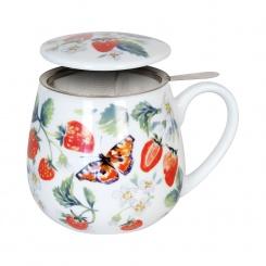 Siebbecher 3tlg. Fruity Tea Strawberry - 0,42l