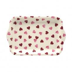 Melamintablett Pink Hearts - 21x14,5cm