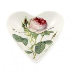 Herzschale Redoute Rose - 13cm