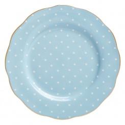 Kuchenteller Polka Blue - 20cm