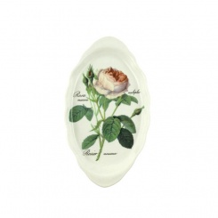 Tablett für Milch Zucker Redoute Rose - 25,5cm