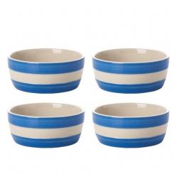 Dip Schüssel 4er Set Cornish Blue - 4x10cm