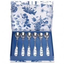 Teelöffel Botanic Blue - 6er Set