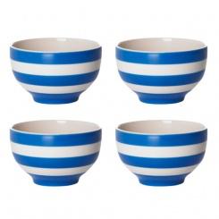 Orientalische Reisschüssel 4er Set Cornish Blue - 10cm