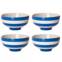 Orientalische Suppenschüssel 4er Set Cornish Blue - 13cm