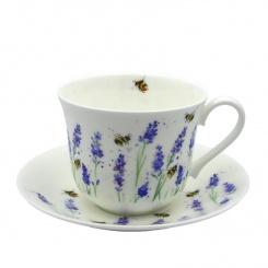 Jumbotasse & Untertasse Lavender & Bee - 0,4l