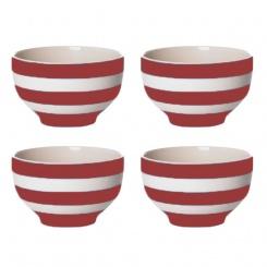 Reisschüssel 4er Set Cornish Red - 10cm