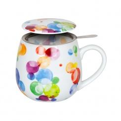 Siebbecher 3tlg. Colourful Cast Bubbles - 0,42l