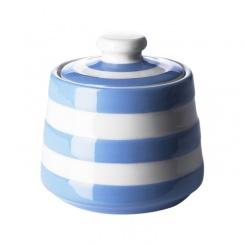 Zuckerdose mit Deckel Cornish Blue - 10x10cm