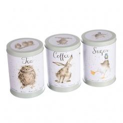 Tea Coffee Sugar 3er Set - 16cm