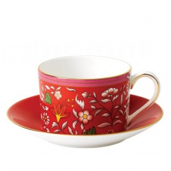 Tasse & Untertasse Crimson Jewel - 0,2l