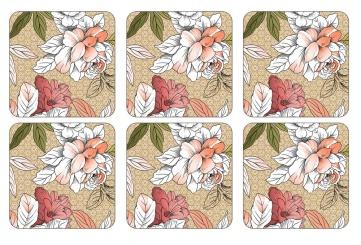 Floral Sketch - Untersetzer