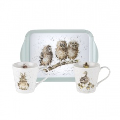 Mugs & Tray - Wrendale Designs