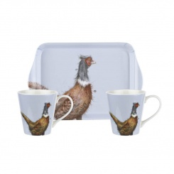 Mugs & Tray - Wrendale Pheasant