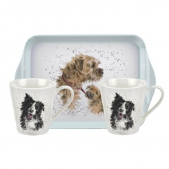 Mugs & Tray - Wrendale Dogs