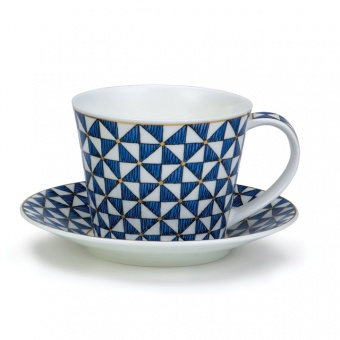 Tasse & Untertasse Samarkant Blue - 0,35l
