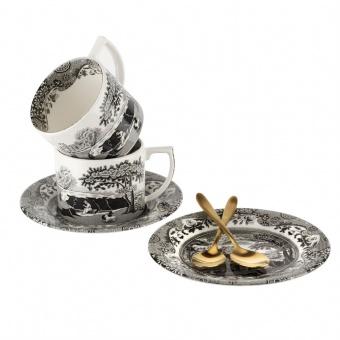 Tasse & Kaffeelöffel 2er Set Black Italian