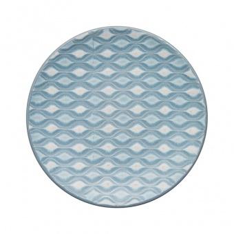Teller Hourglass Impression blue - 17cm
