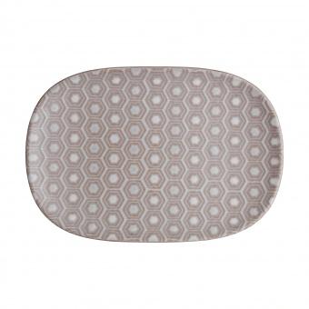 Beilagenplatte Hexagon Impression pink - 26x18cm