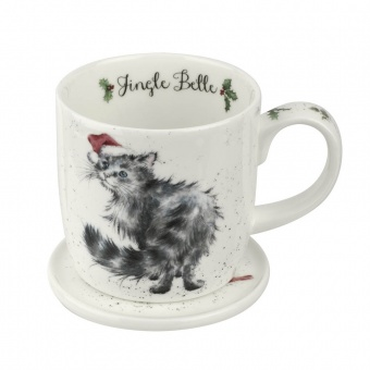 Becher & Untersetzer Set Jingle Belle - 0,31l